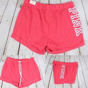 VS Pink Logo Classic Shorts Coral
